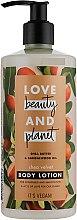 Düfte, Parfümerie und Kosmetik Pflegende und glättende Körperlotion mit Sheabutter und Sandelholzöl - Love Beauty&Planet Shea Butter & Sandalwood Oil Lotion