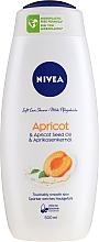 Düfte, Parfümerie und Kosmetik Duschgel mit fruchtigem Duft und Aprikosenkernöl - Nivea Bath Care Shower Care&Apricot Seed Oil