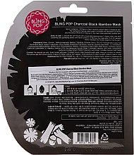 Beruhigende Gesichtsmaske mit Bambuskohle-Extrakt - Bling Pop Charcoal Soothing Face Mask — Bild N2