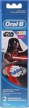 Düfte, Parfümerie und Kosmetik Austauschbare Zahnbürstenköpfe für elektrische Kinderzahnbürste Darth Vader 2 St. - Oral-B Star Wars