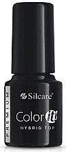 Düfte, Parfümerie und Kosmetik Hybrid-Nagelüberlack - Silcare Color IT Premium Hybrid Top Coat Gel