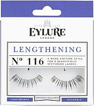 Düfte, Parfümerie und Kosmetik Künstliche Wimpern №116 mit Kleber - Eylure Lengthening False Eyelashes No.116