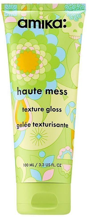 Texturierendes Haargel für mehr Glanz - Amika Haute Mess Texture Gloss Gel — Bild N1
