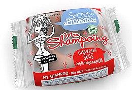 Düfte, Parfümerie und Kosmetik Pflegeset für trockenes Haar - Secrets De Provence Natural Red Clay (Festes Shampoo 85g + Haken)