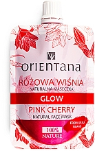 Düfte, Parfümerie und Kosmetik Natürliche Gesichtsmaske mit Kirschenextrakt, Hyaluronsäure und Rosenwasser - Orientana Glow Natural Face Mask Pink Cherry