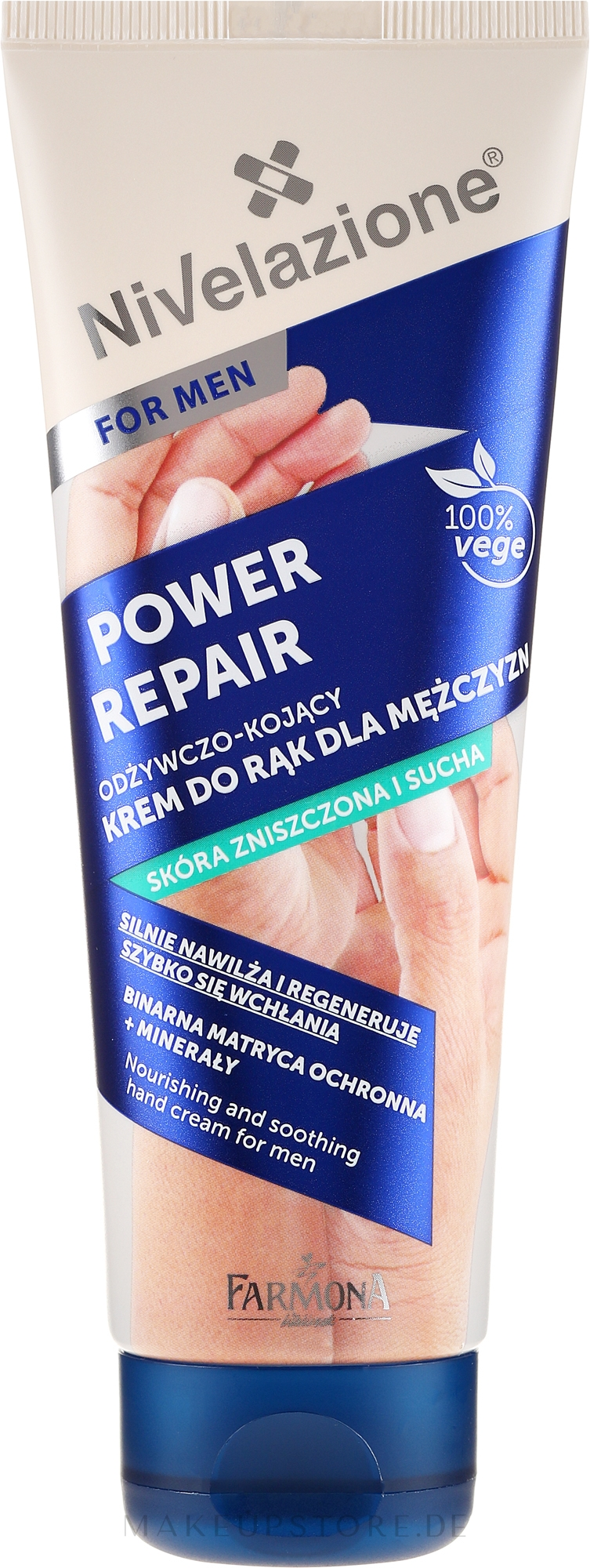 """Pflegende und beruhigende Handcreme """"Power Repair"""" für Männer - Farmona Nivelazione Power Repair Nourishing And Soothing Hand Cream For Men — Bild 100 ml"""
