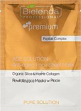 Düfte, Parfümerie und Kosmetik Gesichtsmaske - Bielenda Professional Premium Pure Solution Anti-aging Sheet Face Mask