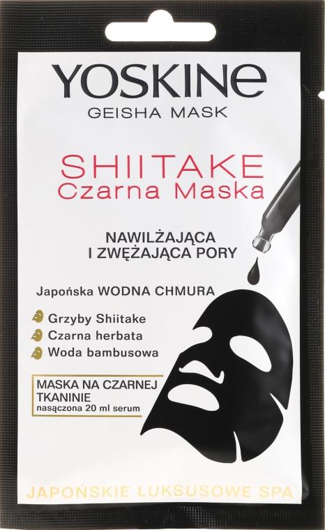 Porenverengende schwarze Tuchmaske - Yoskine Geisha Mask Shiitake — Bild N1