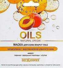 Düfte, Parfümerie und Kosmetik Pflegende Maske für die Haut rund um die Augen mit Pfirsich und Baumwolle - BelKosmex Oils Natural Origin