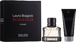 Düfte, Parfümerie und Kosmetik Laura Biagiotti Romamor Uomo - Duftset (Eau de Toilette 40ml + Duschgel 100ml)