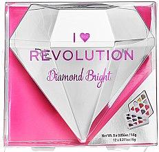 Düfte, Parfümerie und Kosmetik Lidschattenpalette mit 20 Farben - I Heart Revolution Diamond Bright Palette