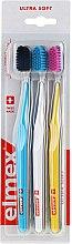 Düfte, Parfümerie und Kosmetik Zahnbürsten ultra weich Swiss Made blau, gelb, weiß 3 St. - Elmex Swiss Made