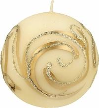 Düfte, Parfümerie und Kosmetik Dekorative Kerze Ball creme 10 cm - Artman Christmas Ornament