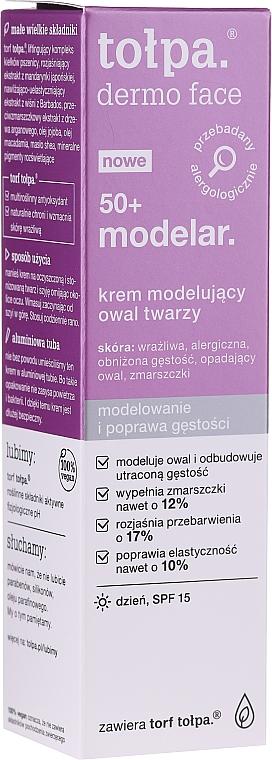 Modellierende und aufhellende Tagescreme gegen Verfärbungen 50+ - Tolpa Dermo Face Modelar 50+ Day Cream SPF15 — Bild N1