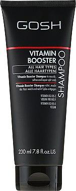 Nährendes Shampoo für strapaziertes Haar mit Vataminen - Gosh Vitamin Booster — Bild N1