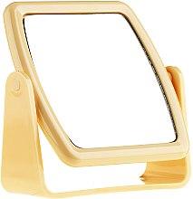 Düfte, Parfümerie und Kosmetik Kosmetikspiegel mit Ständer 85727 quadratisch gelb - Top Choice Beauty Collection Mirror