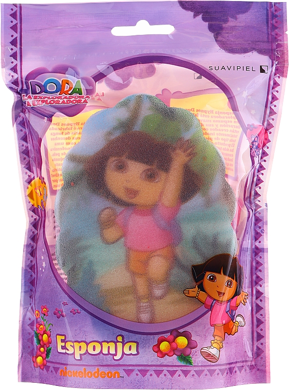 Kinder-Badeschwamm Dora 169-12 rosa - Suavipiel Dora Bath Sponge — Bild N1
