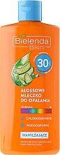 Düfte, Parfümerie und Kosmetik Feuchtigkeitsspendende Sonnenschutzmilch mit Aloe Vera-Saft SPF 30 - Bielenda Bikini Tanning Aloe Lotion SPF30