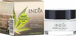 Düfte, Parfümerie und Kosmetik Gesichtscreme für Tag und Nacht mit Hanföl - India Face Cream With Cannabis