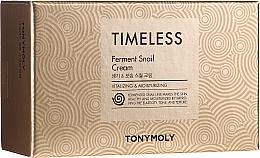 Düfte, Parfümerie und Kosmetik Gesichtspflegest - Tony Moly Timeless Ferment Snail Cream And Timeless Ferment Snail Eye Anti-wrinkle & Whitening & Moisturizing (Gesichtscreme + Augencreme mit Schneckenschleimextrakt)