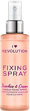 Düfte, Parfümerie und Kosmetik Make-up-Fixierer - I Heart Revolution Fixing Spray Peaches & Cream