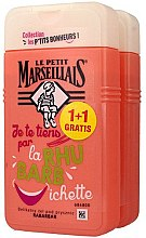 Düfte, Parfümerie und Kosmetik Duschgel Rhabarber 2 St. - Le Petit Marseillais Rhubarb Shower Gel