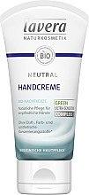 Düfte, Parfümerie und Kosmetik Natürliche Handcreme für empfindliche Haut - Lavera Neutral Green Ultra Sensitive Complex Hand Cream