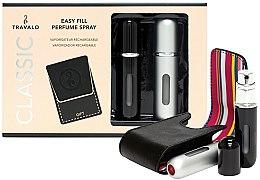 Düfte, Parfümerie und Kosmetik Nachfüllbare Parfümzerstäuber schwarz und silber - Travalo Classic Black & Silver HD Set