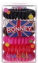 Düfte, Parfümerie und Kosmetik Haargummis Farb-Mix 6 St. №2 - Ronney Professional Funny Ring Bubble 2