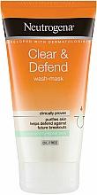 Düfte, Parfümerie und Kosmetik 2in1 Gesichtsmaske ohne Ölen - Neutrogena  Clear & Defend 2 in 1 Wash-Mask
