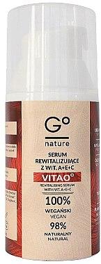 Regenerierendes Gesichtsserum mit Vitamin A, E und C - GoNature Revitalising Serum with vit. A+E+C Vitao° — Bild N4