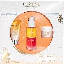 Düfte, Parfümerie und Kosmetik Gesichtspflegeset - Lumene Valo Glow Boosting Ritual (Gesichtsbalsam 15ml + Gesichtsöl 30ml + Gesichtscreme 15ml)