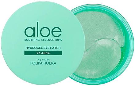 Beruhigende Augenpads mit Aloe-Vera-Extrakt - Holika Holika Aloe Soothing Essence 80% Hydrogel Eye Patch — Bild N1