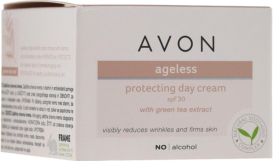 Schützende Tagescreme für das Gesicht mit Grüntee-Extrakt SPF 30 - Avon Ageless Protacting Day Cream SPF 30 — Bild N1