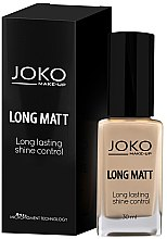 Düfte, Parfümerie und Kosmetik Langanhaltende Foundation - Joko Long Matt