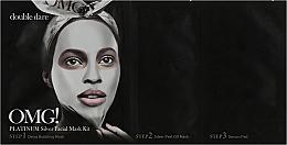 Düfte, Parfümerie und Kosmetik Regenerierendes Gesichtspflegeset mit Lifting-Effekt in 3 Schritten - Double Dare OMG! Platinum Silver Facial Mask Kit