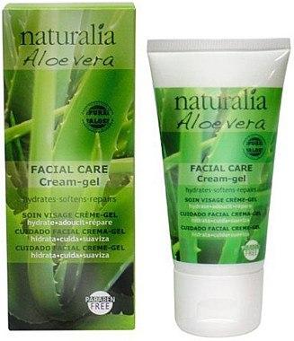 Feuchtigkeitsspendende Gel-Creme für Gesicht mit Aloe - Naturalia Aloe Vera Facial Care Cream-Gel — Bild N1