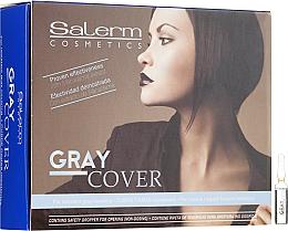 Düfte, Parfümerie und Kosmetik Ampullen zur besseren Einfärbung grauer Haare - Salerm Cubre Canas