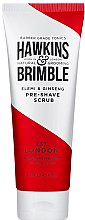 Düfte, Parfümerie und Kosmetik Peeling vor der Rasur mit Walnussschalen und Mandelöl - Hawkins & Brimble Elemi & Ginseng Pre Shave Scrub