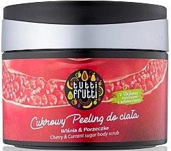 Düfte, Parfümerie und Kosmetik Zuckerpeeling für den Körper mit Kirsche und Johannisbeere - Farmona Tutti Frutti Sugar Body Scrub