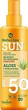 Düfte, Parfümerie und Kosmetik Wasserfeste Sonnenschutzmilch mit Aloe Vera SPF 50 - Farmona Herbal Care Sun SPF 50