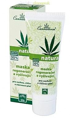 Regenerierende und pflegende Gesichtsmaske mit Hanföl und Vitamin E - Cannaderm Natura — Bild N1