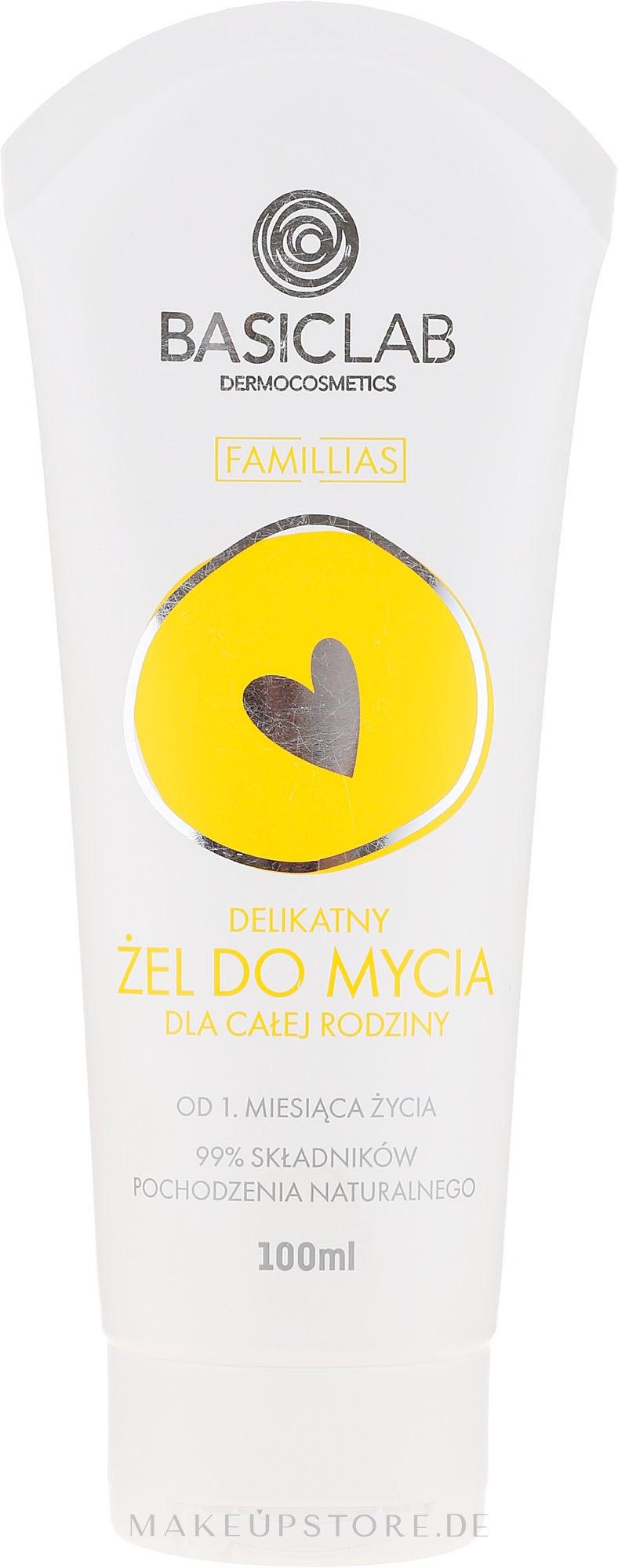Sanftes Körperwaschgel für die ganze Familie - BasicLab Dermocosmetics Famillias — Bild 100 ml
