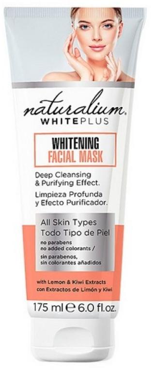 Aufhellende Gesichtsmaske mit Zitronen- und Kiwi-Extrakt - Naturalium White Plus Whitening Facial Mask — Bild N1