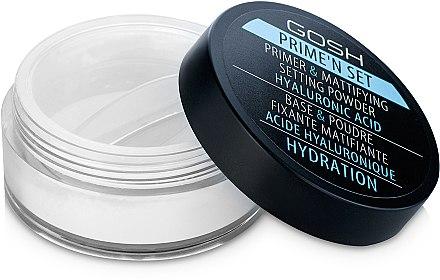 Primer und mattierendes Puder mit Hyaluronsäure - Gosh Prime'n Set Powder — Bild N2