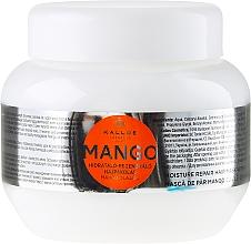 Düfte, Parfümerie und Kosmetik Feuchtigkeitsspendende und regenerierende Haarmaske mit Mango - Kallos Cosmetics Mango