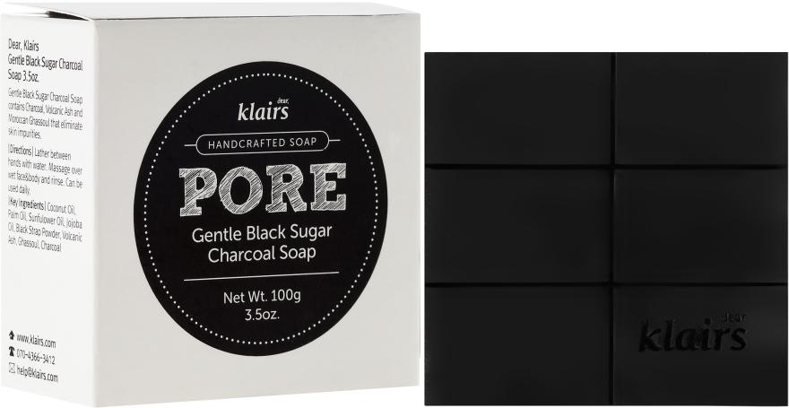 Handgemachte Seife mit Aktivkohle - Klairs Gentle Black Sugar Charcoal Soap — Bild N1