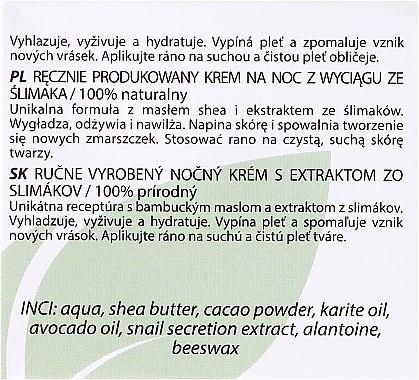 Nachtcreme mit Schneckenschleim-Extrakt - Hristina Cosmetics Handmade Snail Night Cream — Bild N3