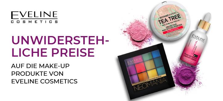 Rabatt auf das Aktionssortiment von Eveline Cosmetics. Die Preise auf der Website sind inklusive Rabatt.