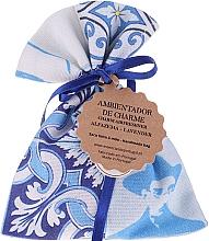 Düfte, Parfümerie und Kosmetik Handgemachtes Duftsäckchen mit Seife weiß-blau Lavendel - Essencias De Portugal Tradition Charm Air Freshener